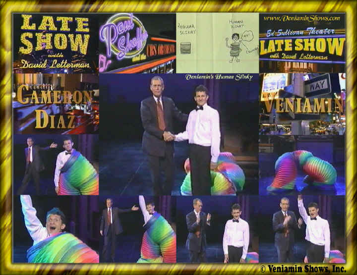 David Letterman Guest | Late Night Guest | Veniamin Human Slinky